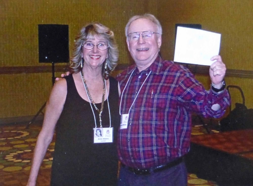 Ron Mills won a raffle prize (gift certificate) awarded by Anne Adams Goodwin