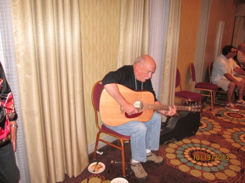 Mike Barmore playing at the Meet and Greet Mixer on Friday evening October 18, 2013.  The date is wrong on the picture d