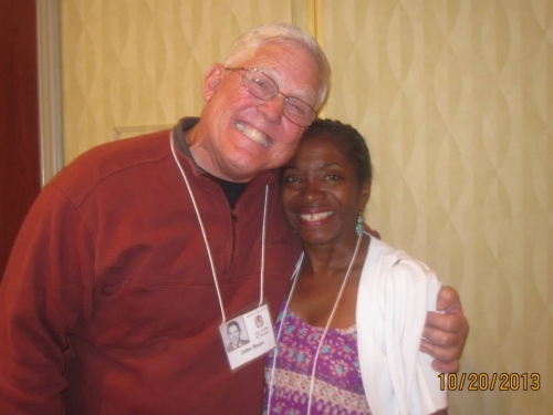 John Bean and Erni Troupe Frazier.  This picture was taken at the Farewell Breakfast on Sunday.  Since few pictures were