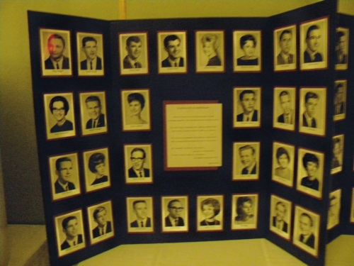 1 of 2 Memorial Boards of those classmates who have passed.
